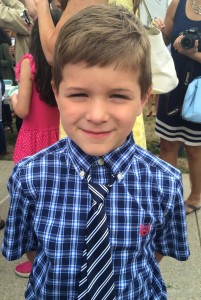 Henry, on the last day of school.