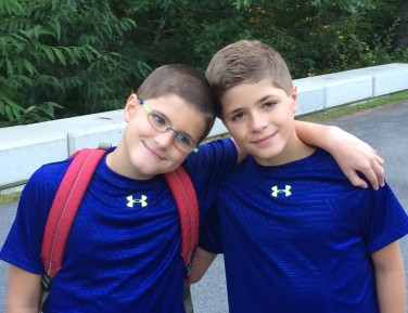 Joey & Jack, the first day of school.